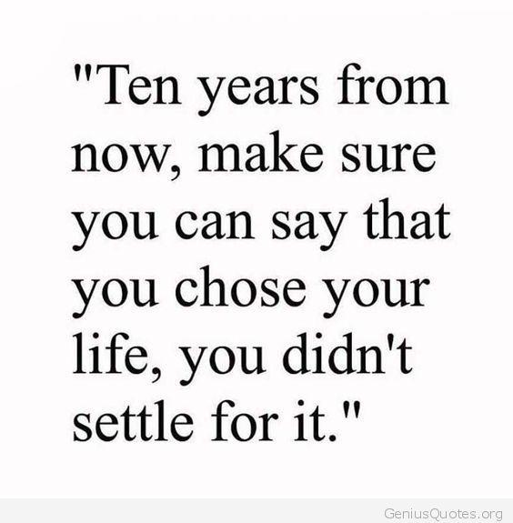 You Chose Your Life