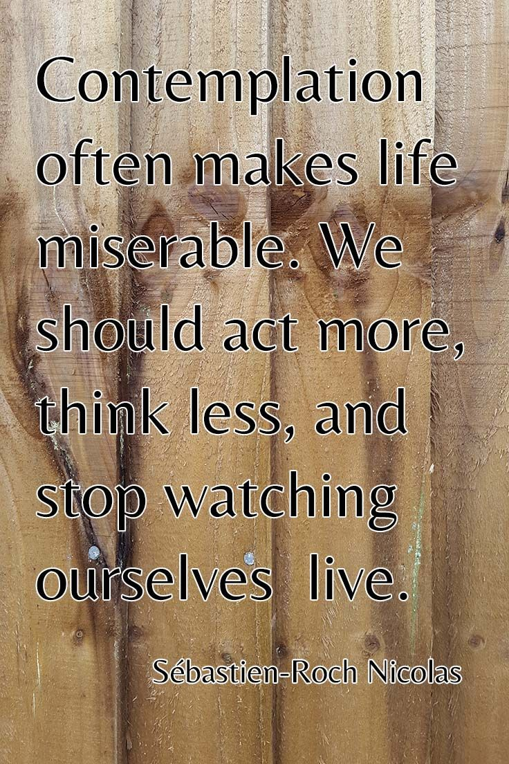 Favorite Quotes About Life Contemplation Makes Life Miserable  Word Quotes Love Quotes