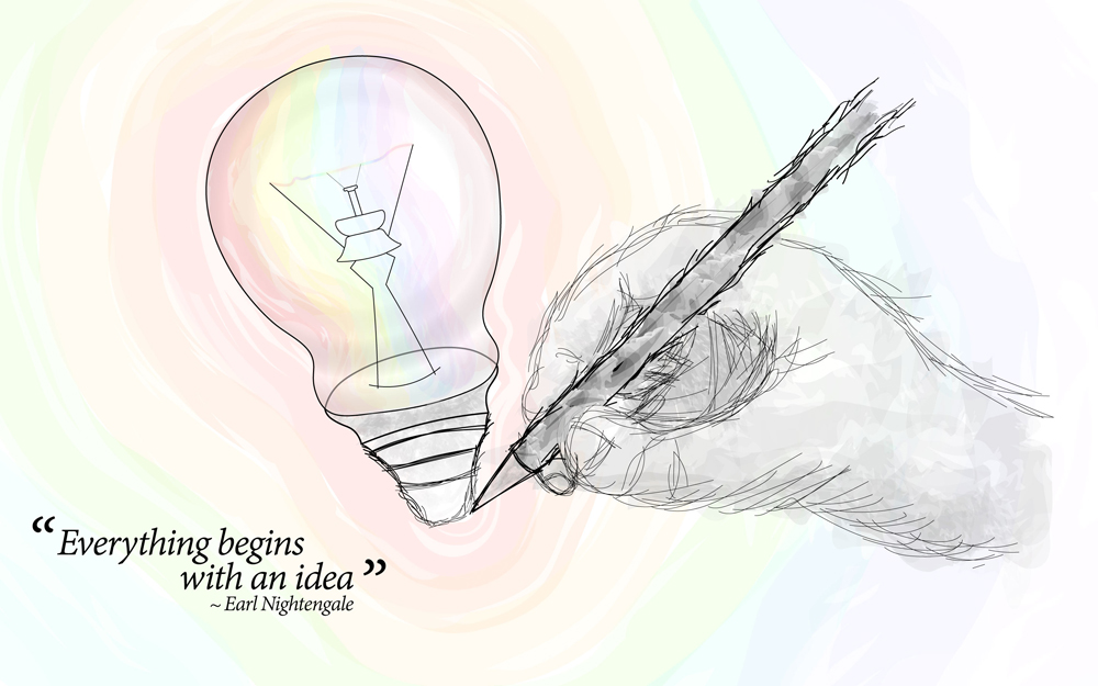 Everything Begins Idea Earl Nightengale Daily Quotes Sayings Pictures