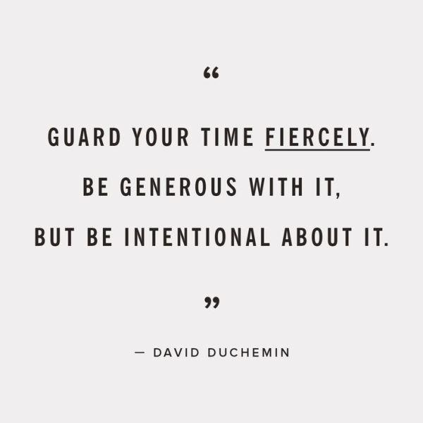 Guard Your Time