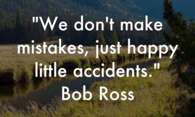 Happy Little Accidents Bob Ross Daily Quotes Sayings Pictures