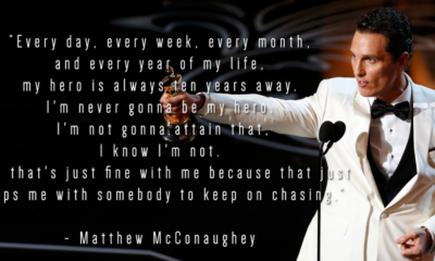 My Hero Ten Years Away Matthew Mcconaughey Daily Quotes Sayings Pictures