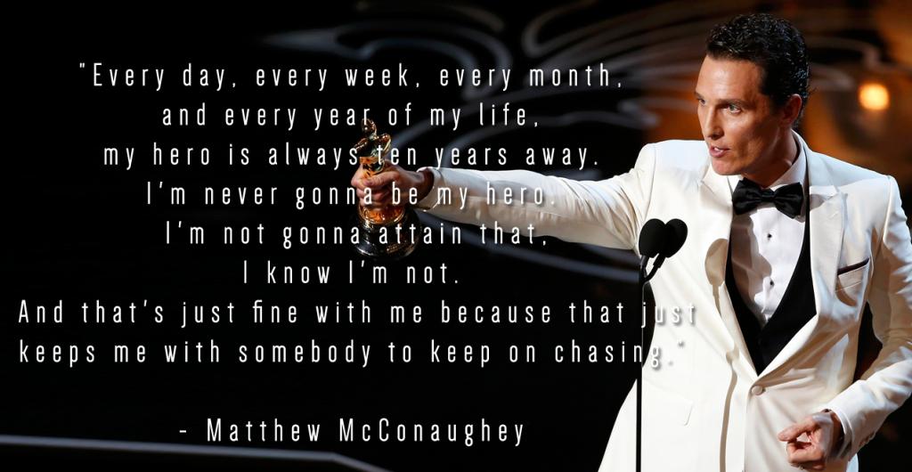 My Hero Ten Years Away Matthew Mcconaughey Daily Quotes Sayings Pictures