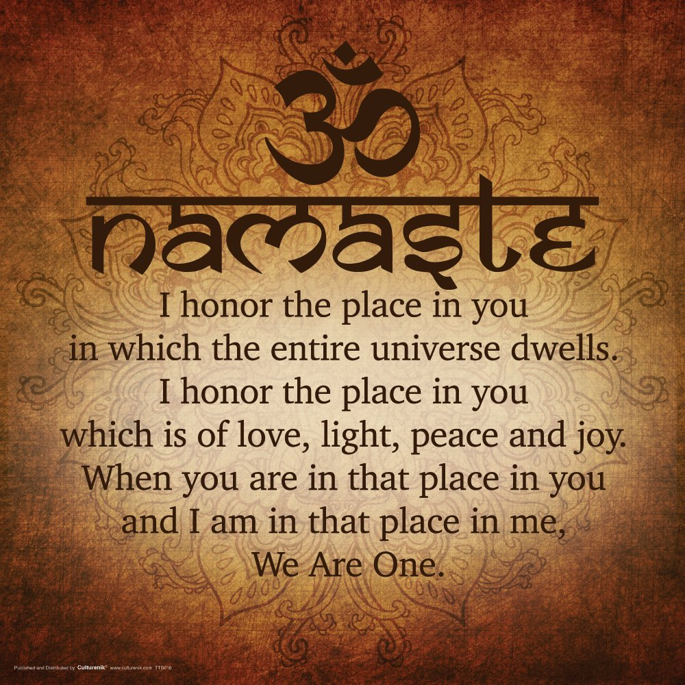 Namaste We Are One Life Daily Quotes Sayings Pictures