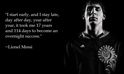 Overnight Success Lionel Messi Daily Quotes Sayings Pictures