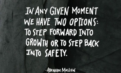 Step Forward Into Growth Abraham Maslow Daily Quotes Sayings Pictures