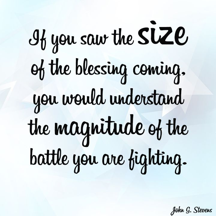 The Battle You Are Fighting