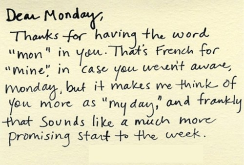 monday quotes saying