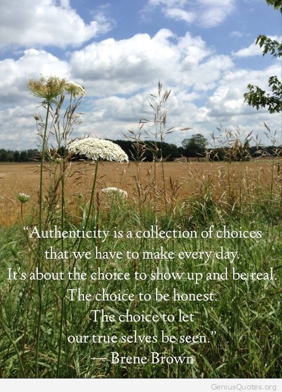 Authenticity Is A Collection Of Choices