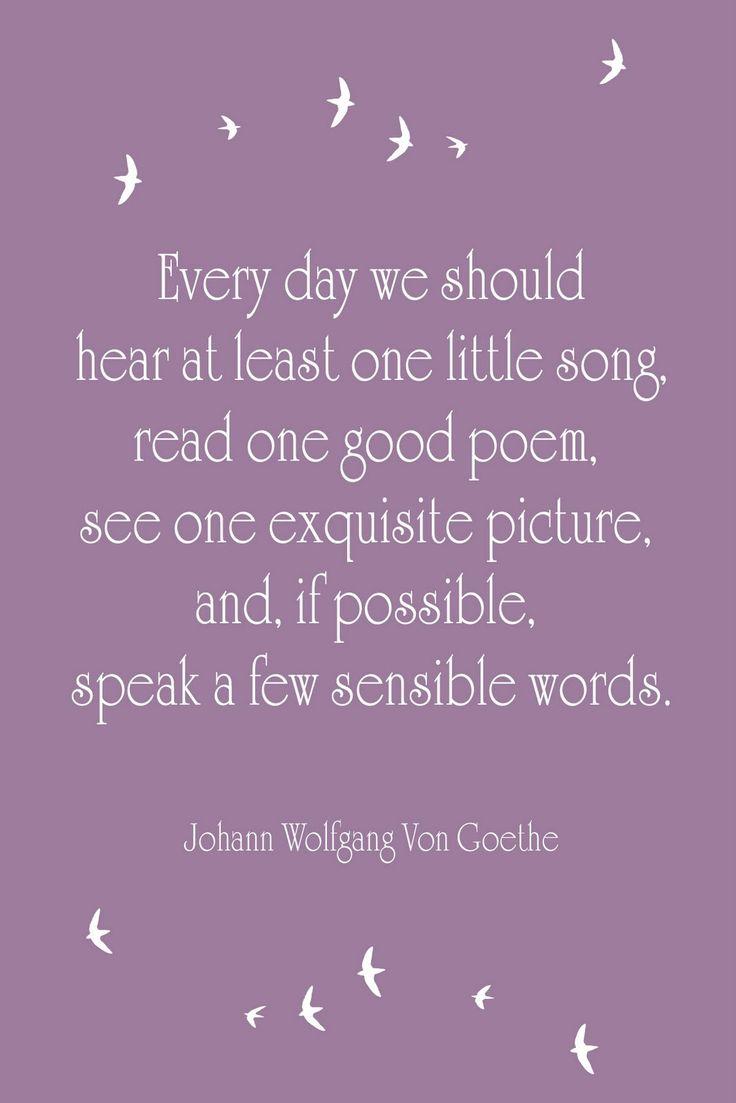 A Few Sensible Words