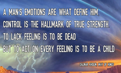 A Mans Emotions Define Him Dalinar Kholin Way Of Kings Daily Quotes Sayings Pictures