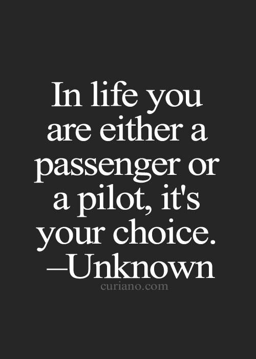 A Passenger Or A Pilot