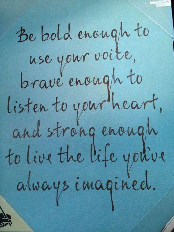 Be Bold Enough