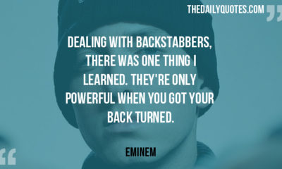 Dealing With Backstabbers