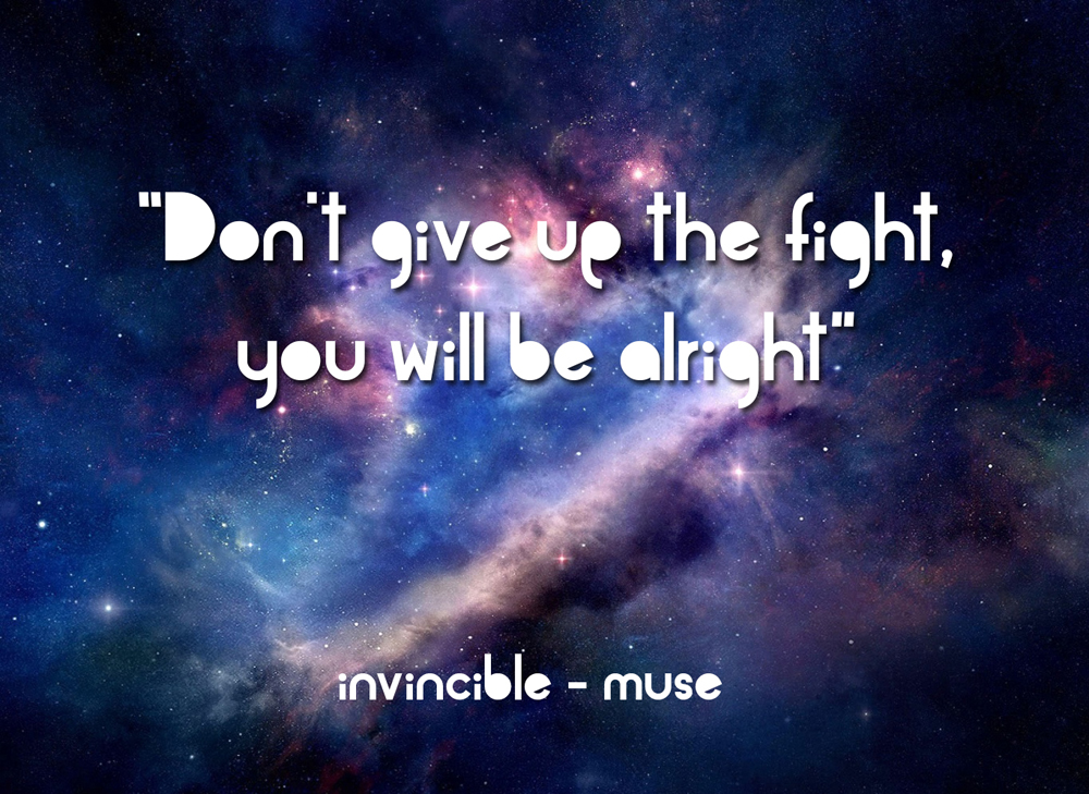 Dont Give Up The Fight Invincible Muse Daily Quotes Sayings Pictures