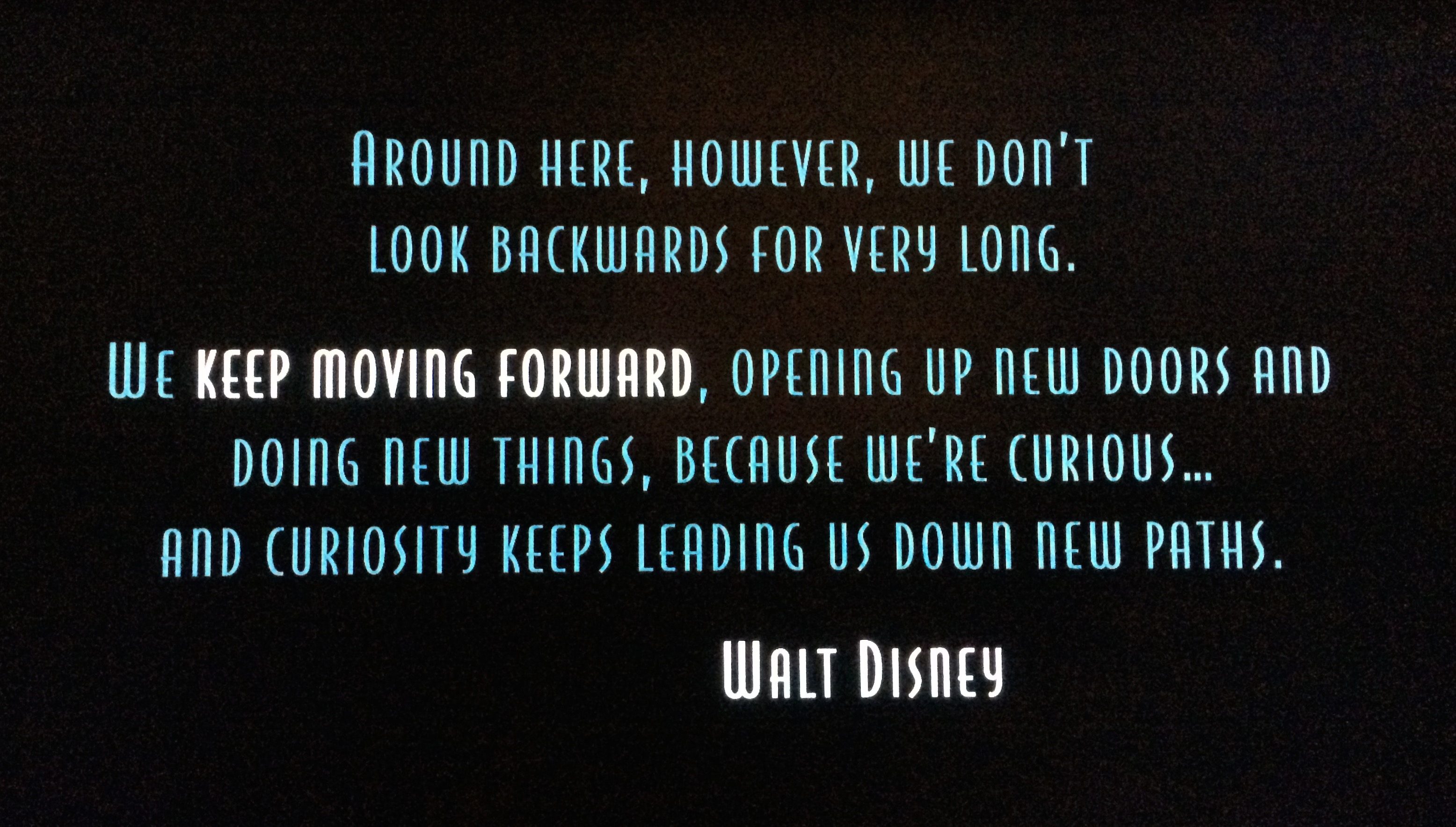 Dont Look Backwords Often Walt Disney Daily Quotes Sayings Pictures