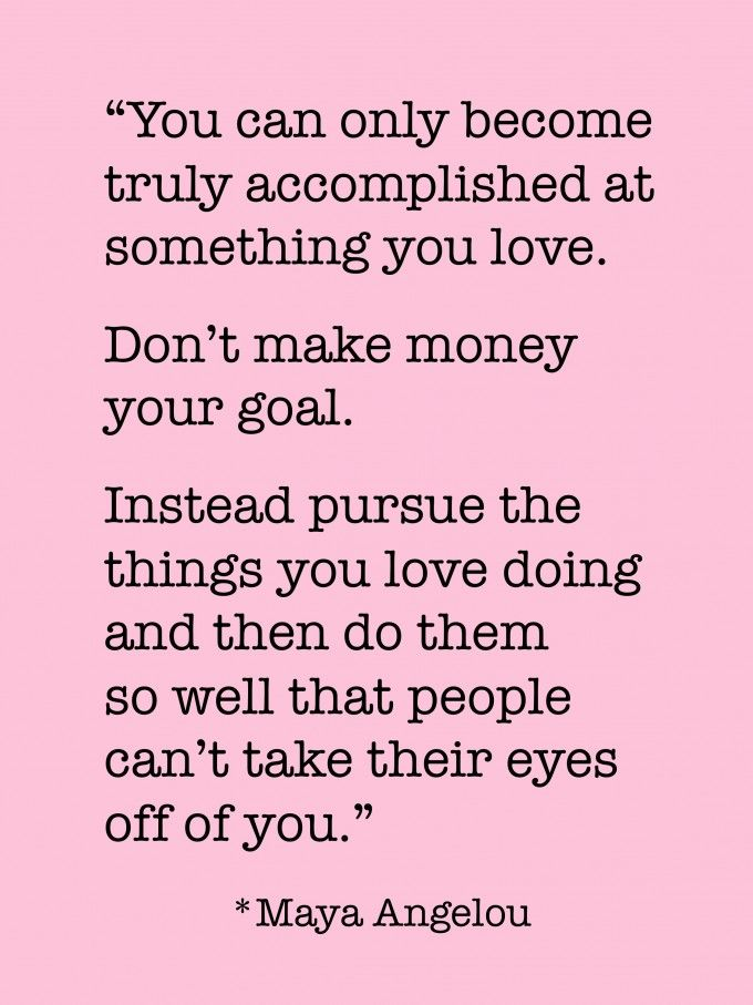 Dont Make Money Your Goal
