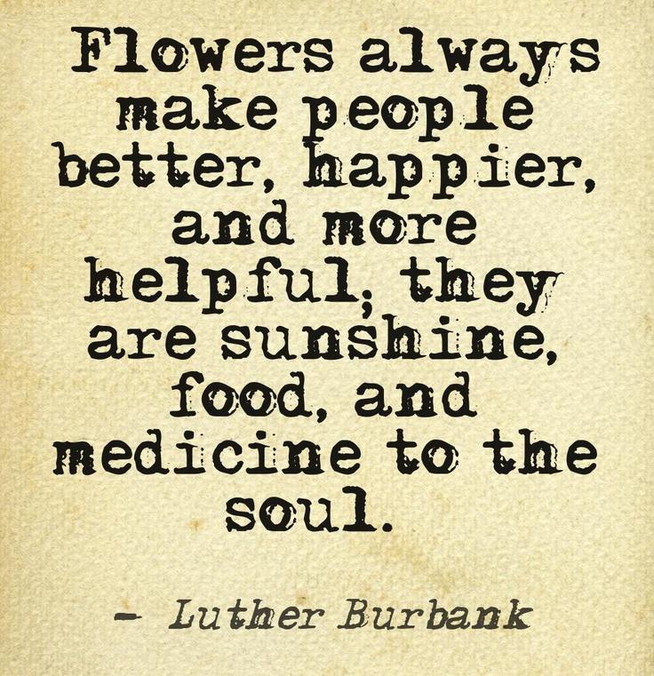 Flowers Make People Better