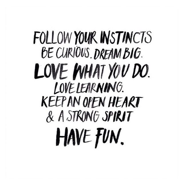 Follow Your Instincts Word Porn Quotes Love Quotes Life