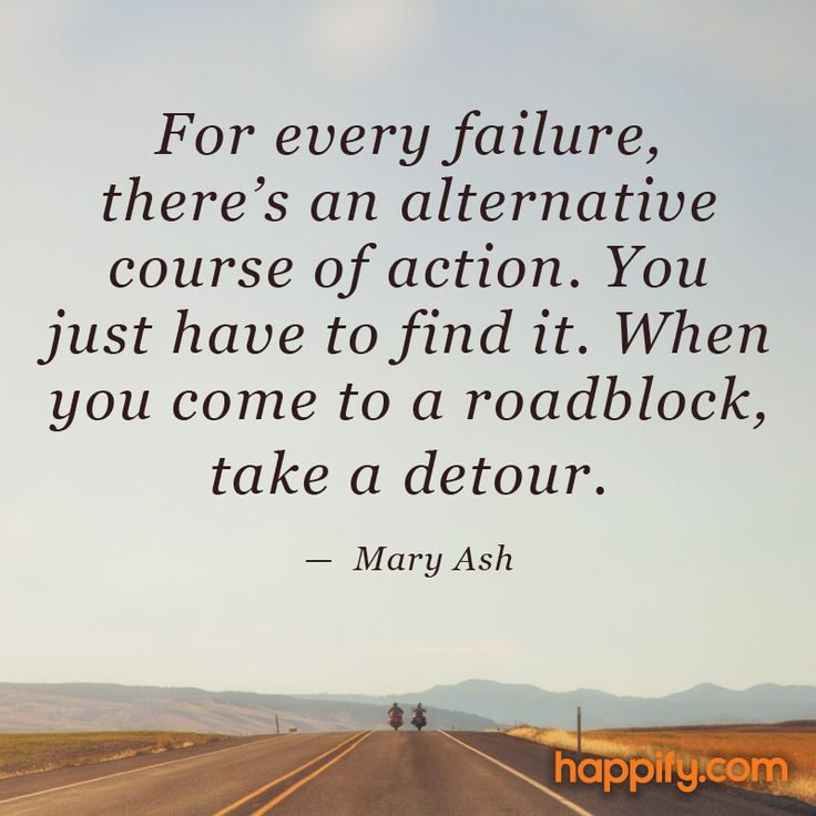 For Every Failure