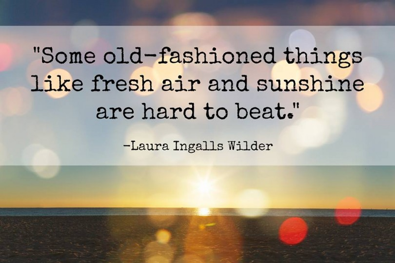 Some old-fashioned things like fresh air and sunshine are heard to beat. - Laura Ingalls Wilder
