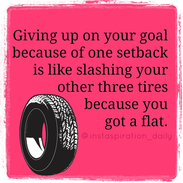 Giving Up On Your Goal