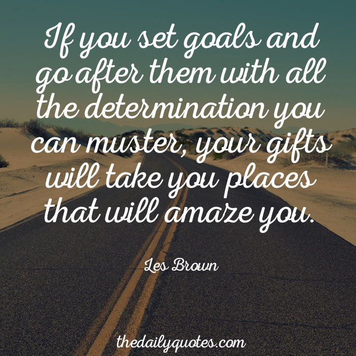Go After Your Goals