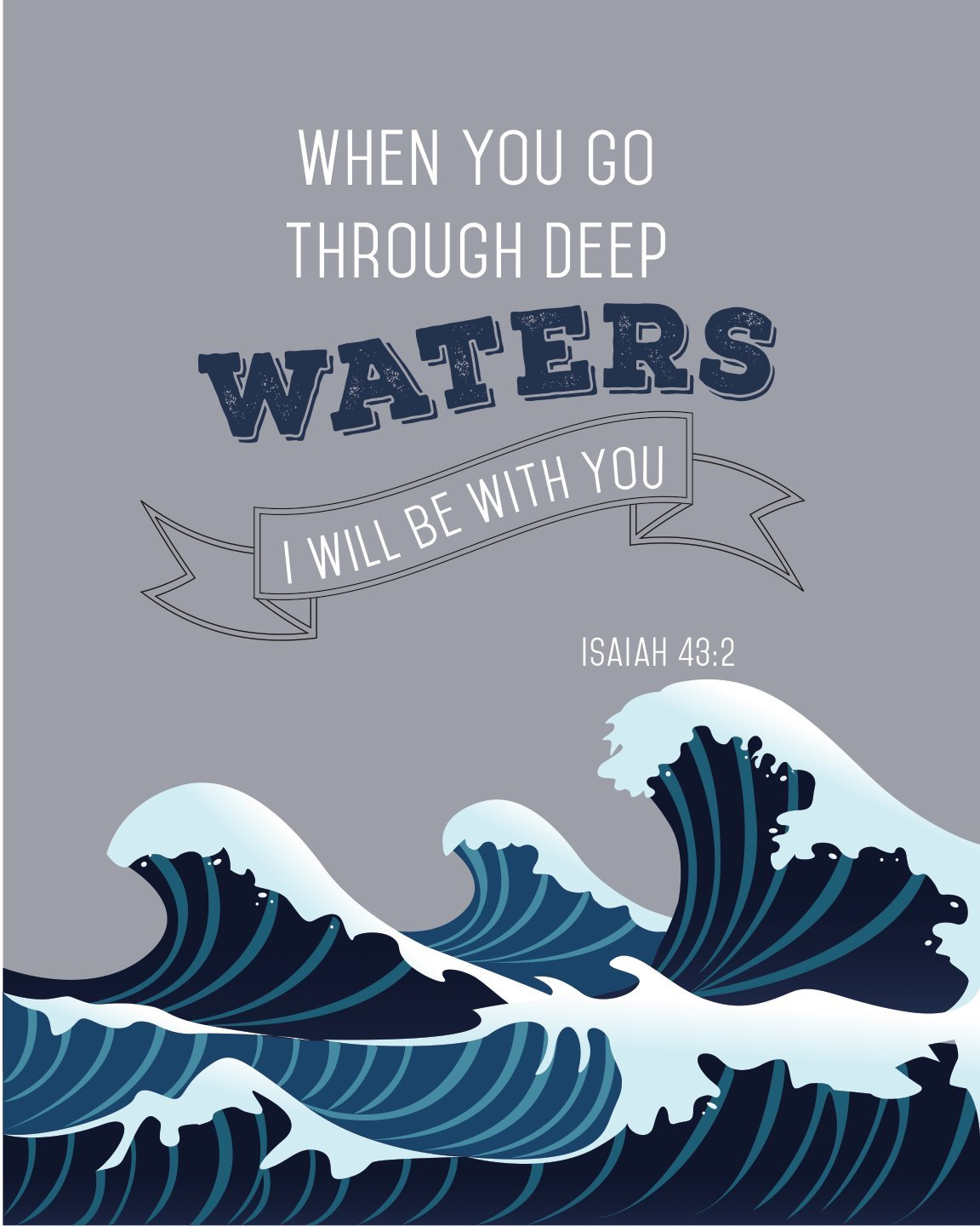 Go Through Deep Waters Isaiah 43 2 Daily Quotes Sayings Pictures