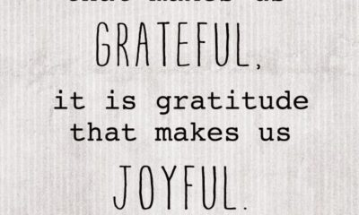 Gratitude Makes Us Joyful