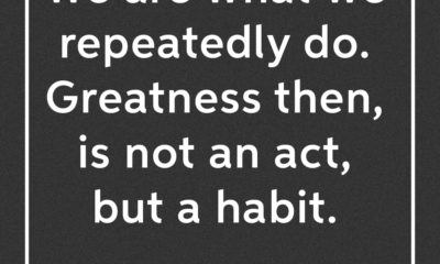 Greatness Is A Habit Aristotle Daily Quotes Sayings Pictures