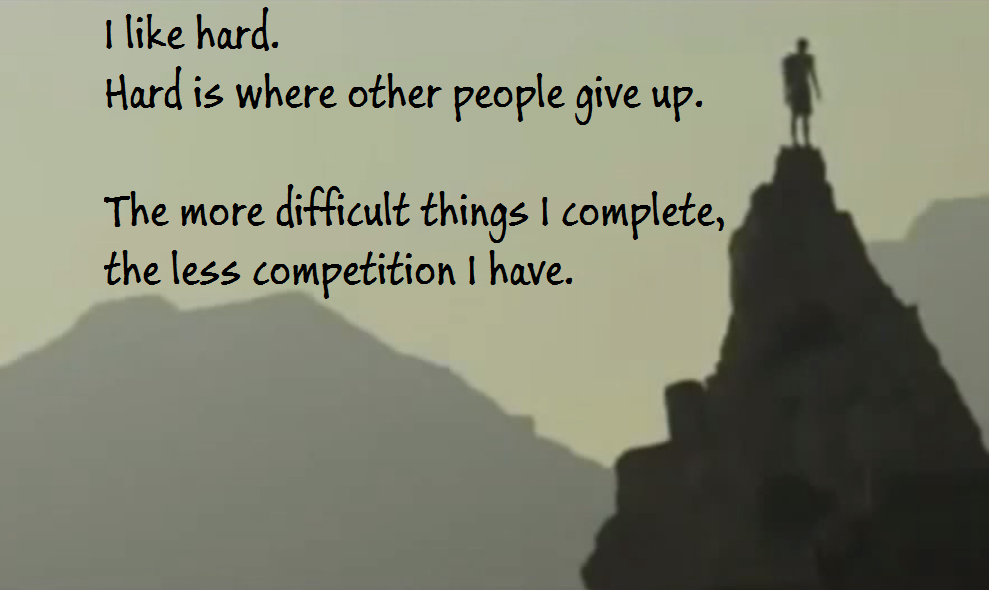 Hard Where Other People Give Up Life Daily Quotes Sayings Pictures
