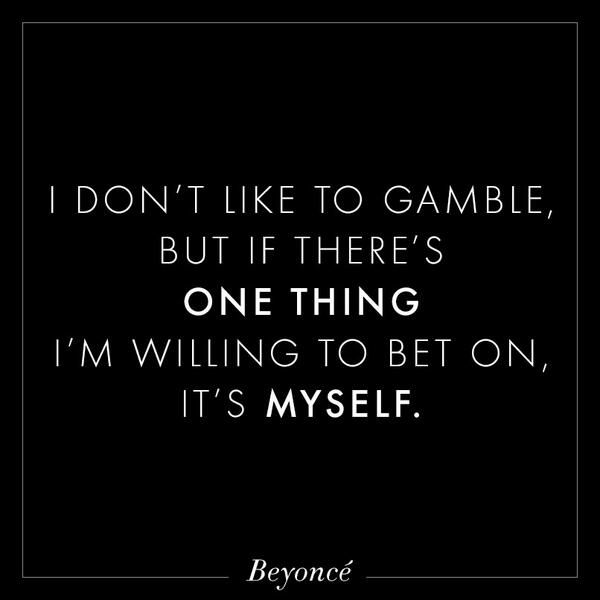 I Dont Like To Gamble