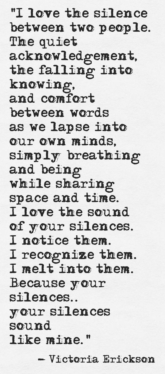 I Love The Silence