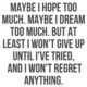 I Wont Regret Anything