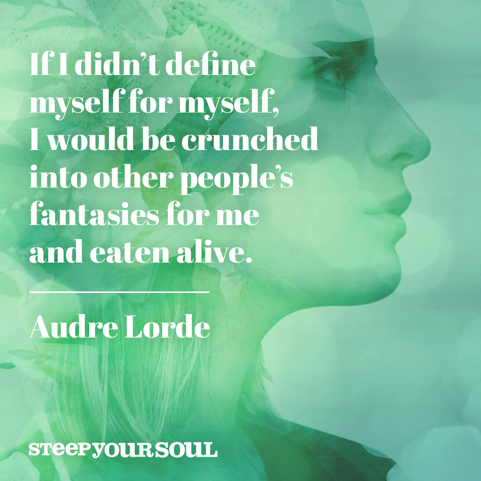 If I Didnt Define Myself Audre Lorde Daily Quotes Sayings Pictures