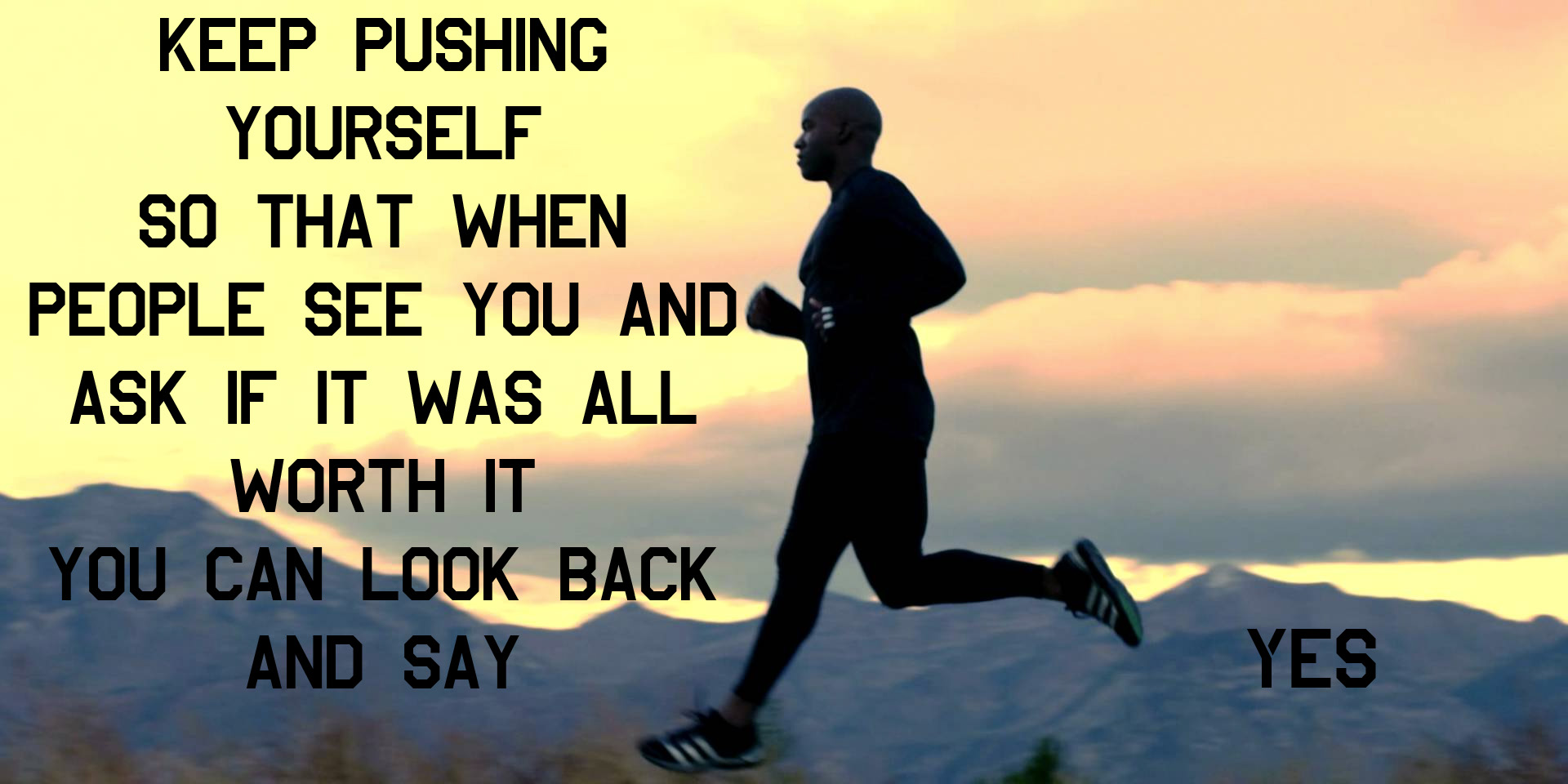 Keep Pushing Yourself Fitness Daily Quotes Sayings Pictures