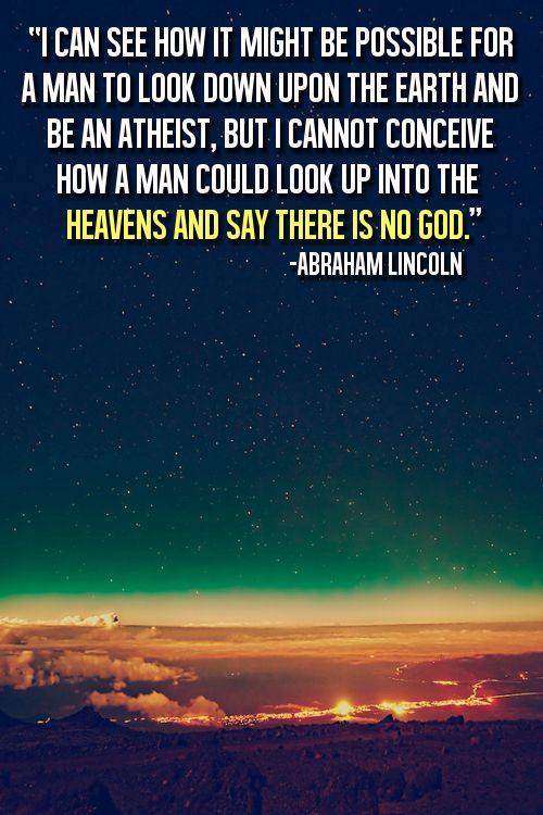 Look Up Into The Heavens