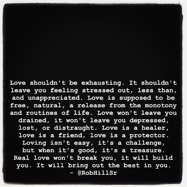 Love Shouldnt Be Exhausting