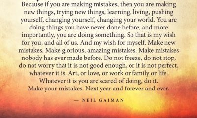 Make Mistakes Neil Gaiman Daily Quotes Sayings Pictures