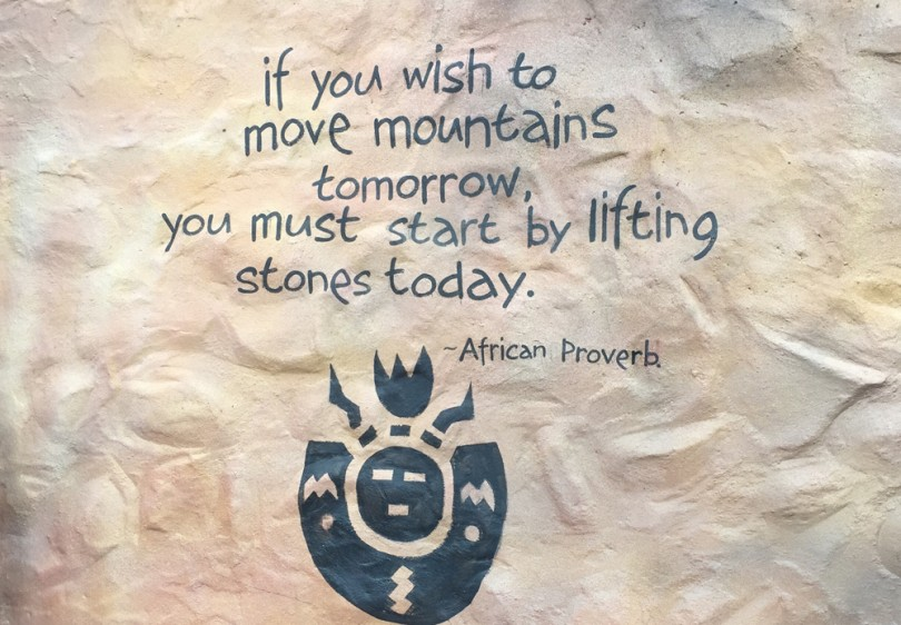 If you wish to move mountains tomorrow, you must start by lifting stones today. - African Proverb