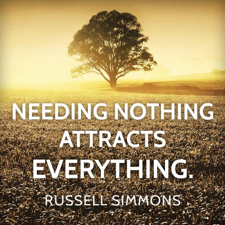 Needing Nothing