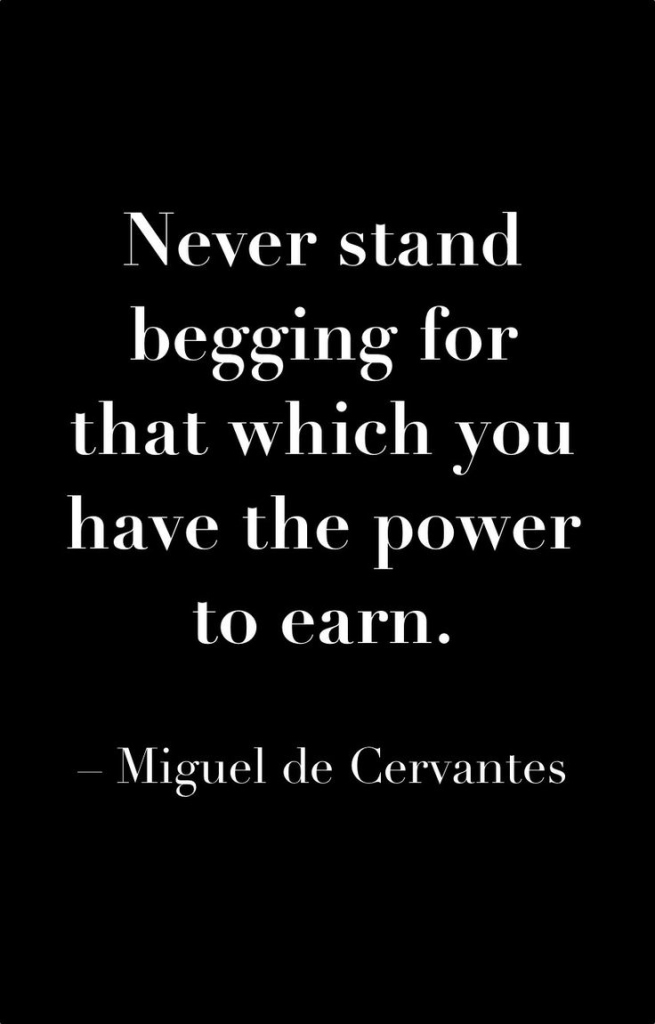Never Stand Begging