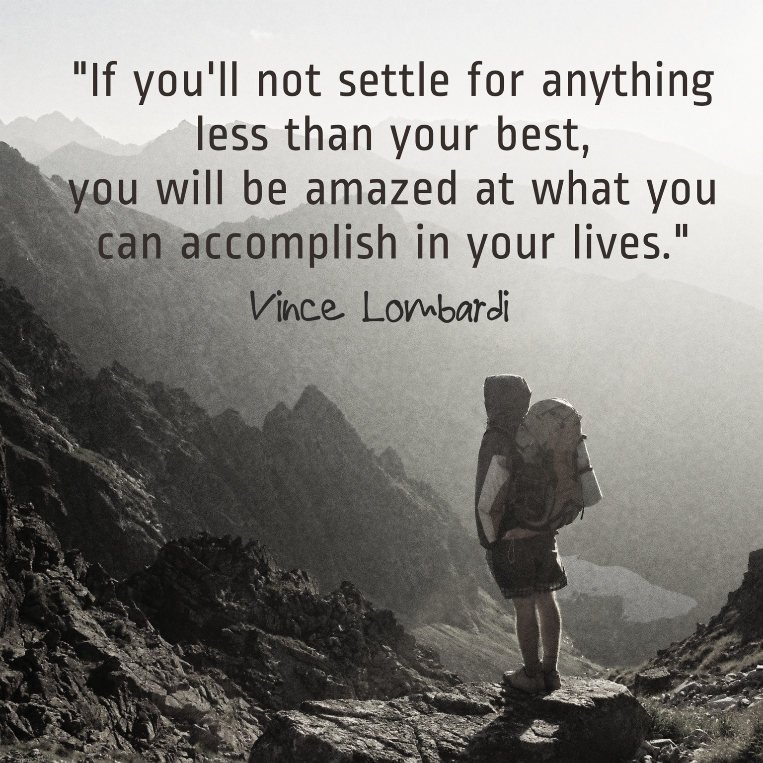Not Settle Less Best Vince Lombardi Daily Quotes Sayings Pictures