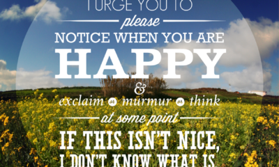 Notice When You Are Happy Life Daily Quotes Sayings Pictures
