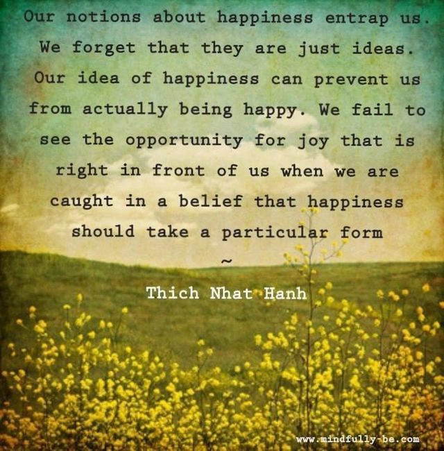 Our Notions About Happiness