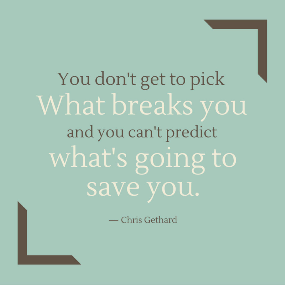 Pick What Breaks You Chris Gethard Daily Quotes Sayings Pictures
