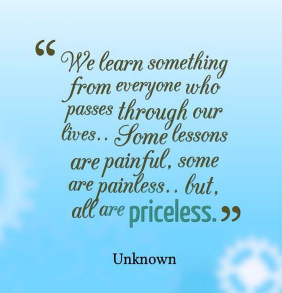 Priceless Lessons