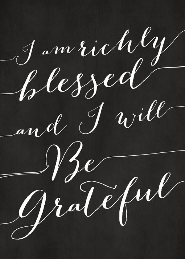 Richly Blessed