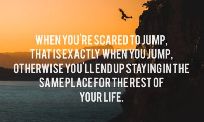 Scared To Jump Life Daily Quotes Sayings Pictures