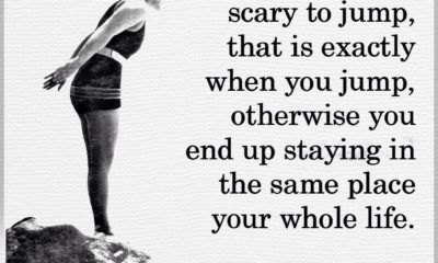 Scary To Jump Motivational Daily Quotes Sayings Pictures